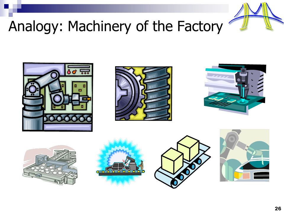 26 Analogy: Machinery of the Factory