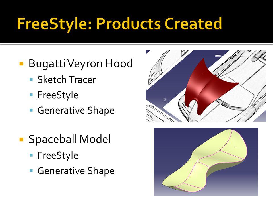  Bugatti Veyron Hood  Sketch Tracer  FreeStyle  Generative Shape  Spaceball Model  FreeStyle  Generative Shape