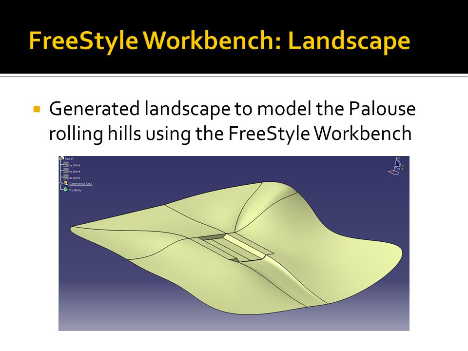  Generated landscape to model the Palouse rolling hills using the FreeStyle Workbench