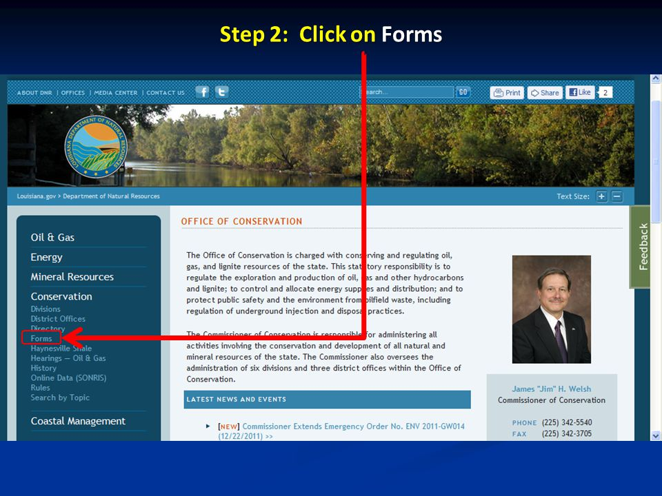 Step 2: Click on Forms