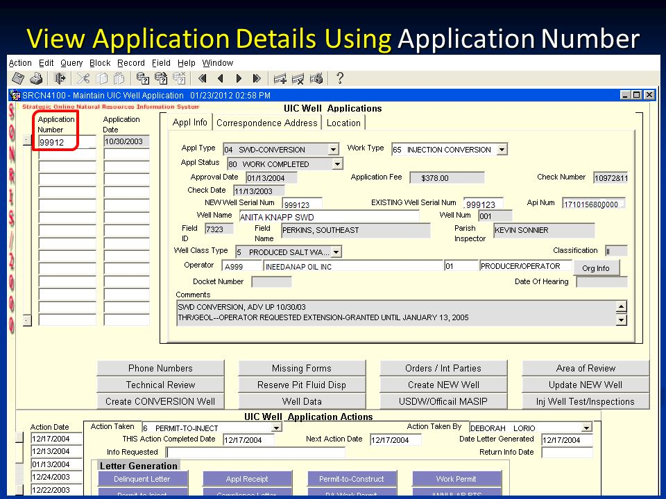 View Application Details Using Application Number