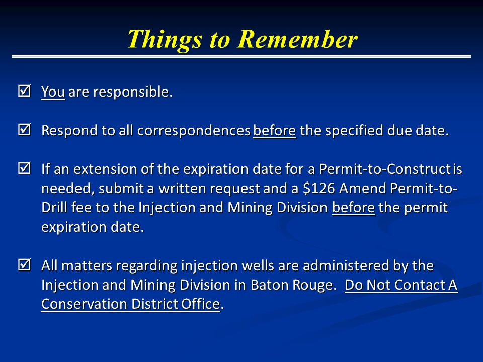 You are responsible.  Respond to all correspondences before the specified due date.  If an extension of the expiration date for a Permit-to-Constr