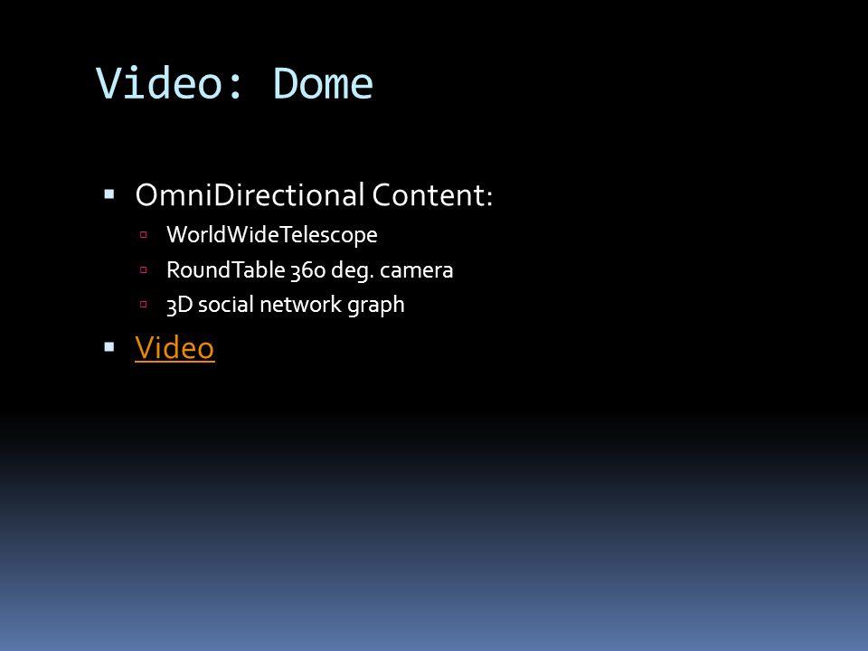 Video: Dome  OmniDirectional Content:  WorldWideTelescope  RoundTable 360 deg.