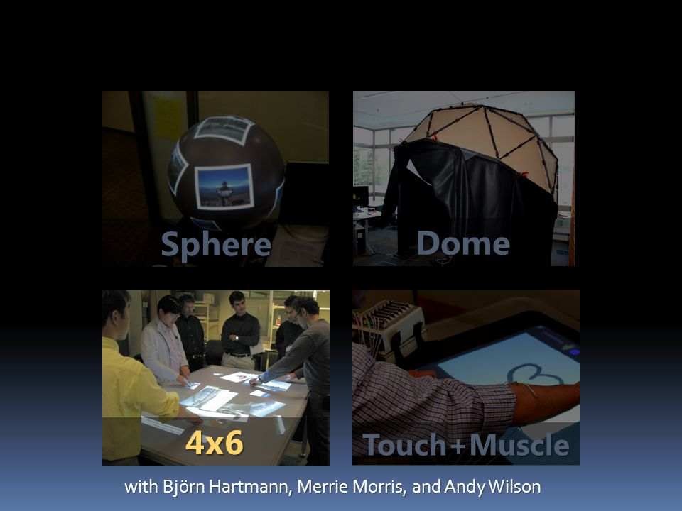Sphere Touch+Muscle Dome 4x6 with Björn Hartmann, Merrie Morris, and Andy Wilson