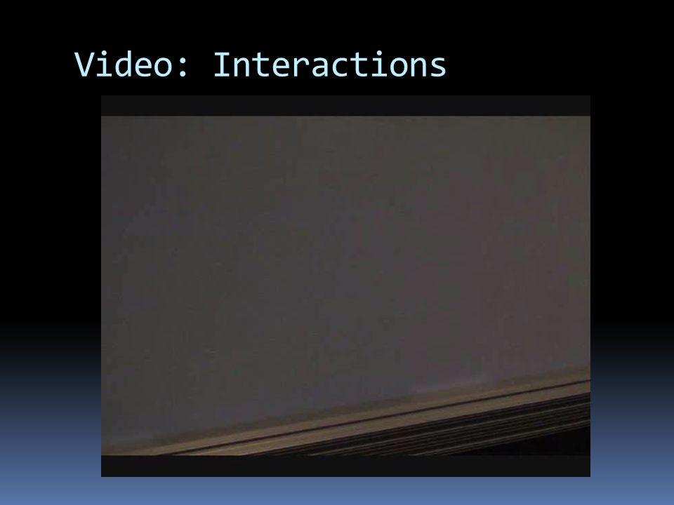 Video: Interactions