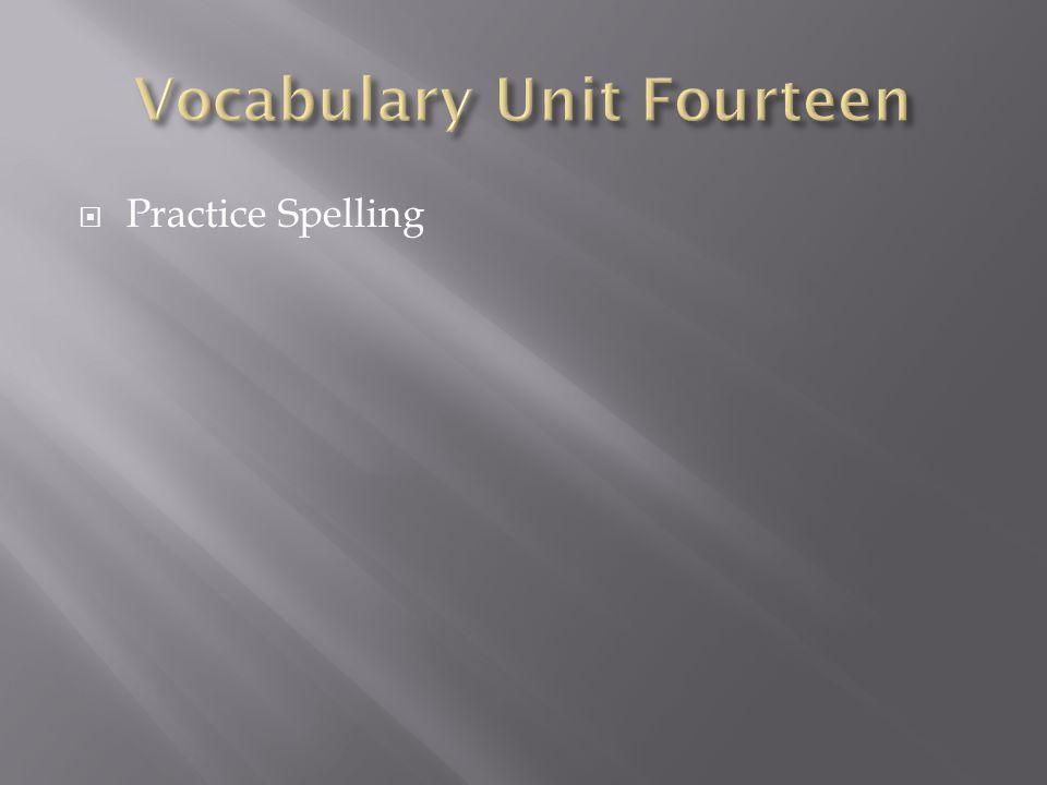  Practice Spelling
