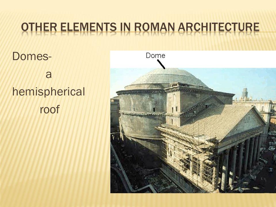 Domes- a hemispherical roof