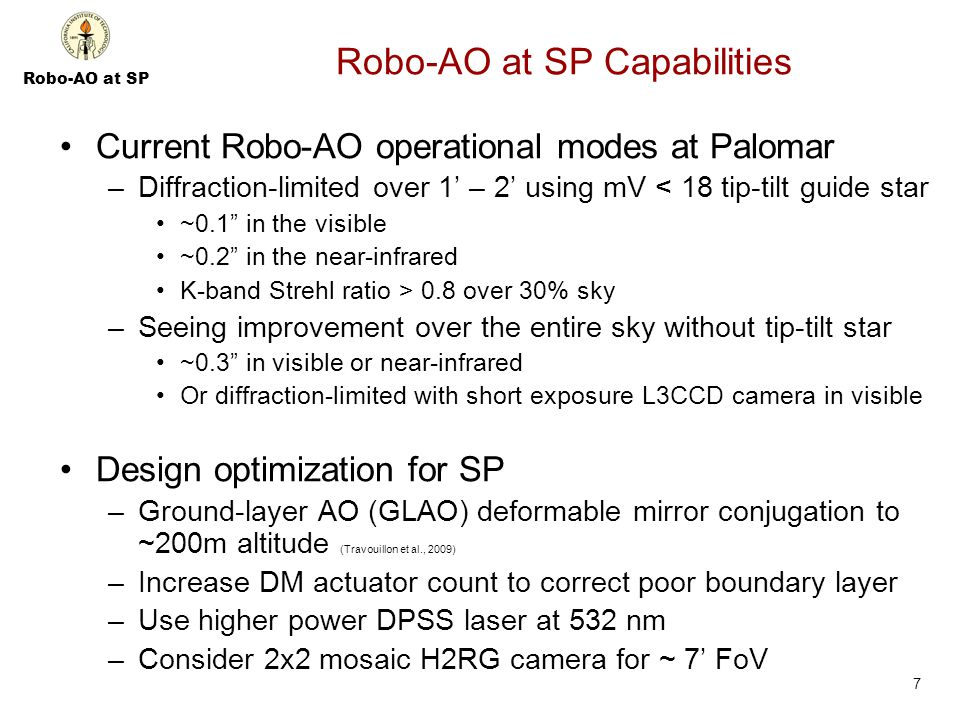 Robo-AO at SP Backup Slides 18