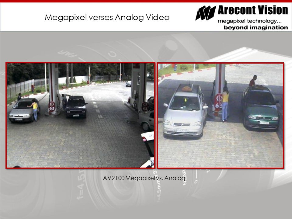 Megapixel verses Analog Video AV2100 Megapixel vs. Analog