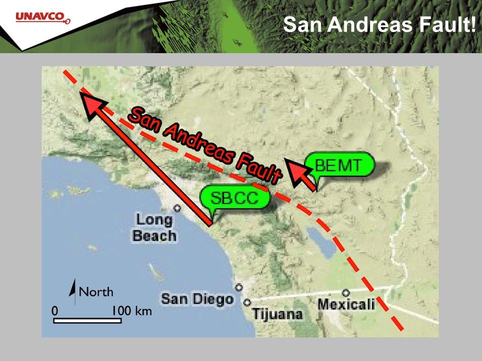 San Andreas Fault! 20 mm/yr