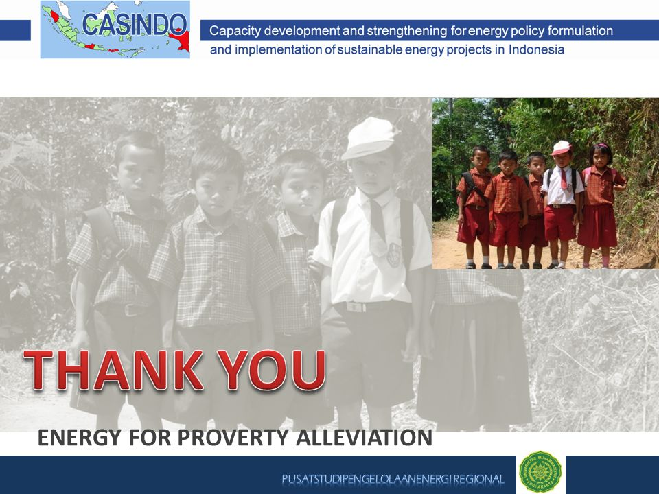 ENERGY FOR PROVERTY ALLEVIATION