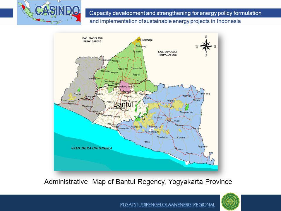 Administrative Map of Bantul Regency, Yogyakarta Province Bantul