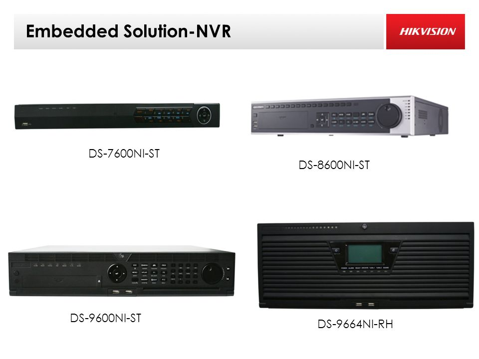 Embedded Solution-NVR DS-7600NI-ST DS-9600NI-ST DS-8600NI-ST DS-9664NI-RH