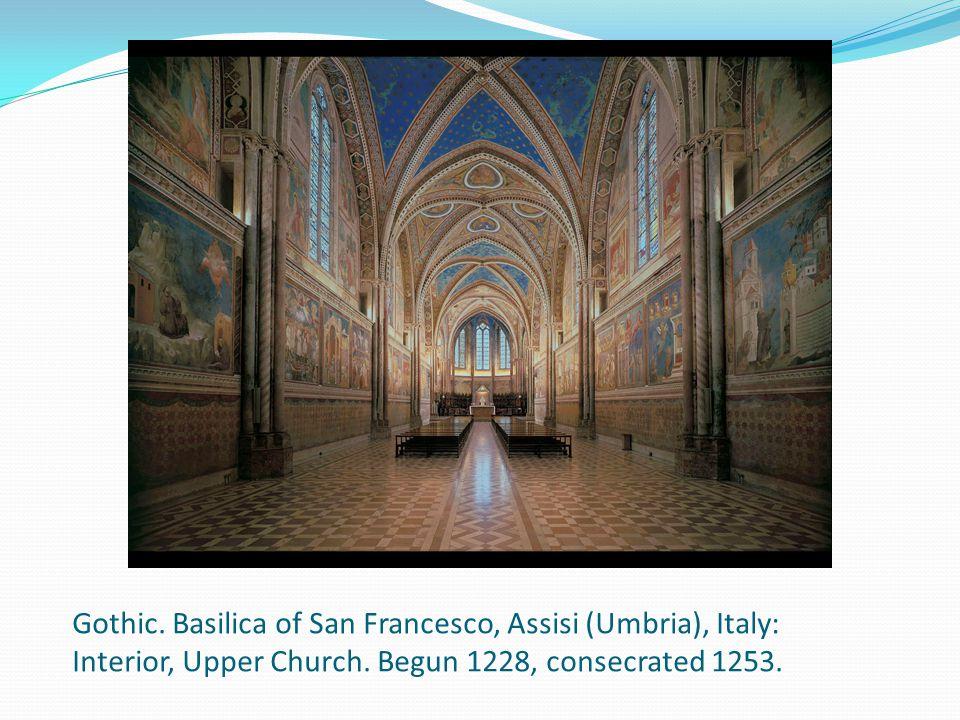 Gothic. Basilica of San Francesco, Assisi (Umbria), Italy: Interior, Upper Church.