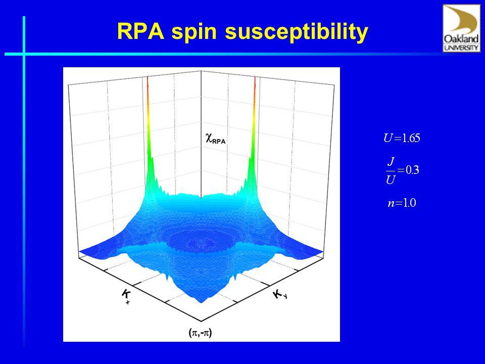 RPA spin susceptibility