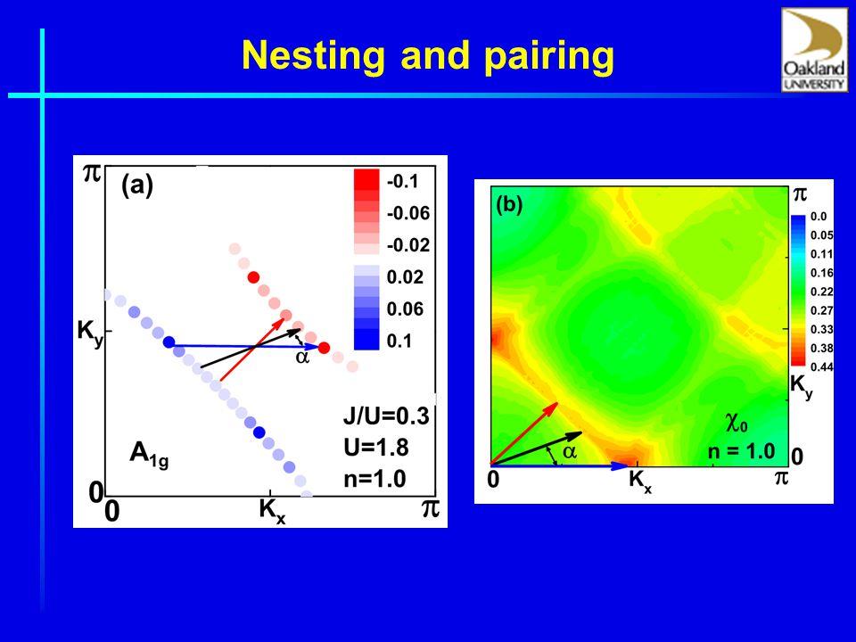 Nesting and pairing