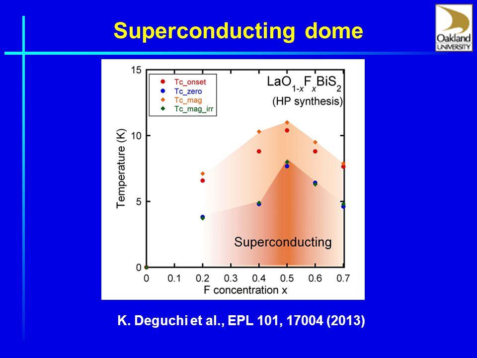 Superconducting dome K. Deguchi et al., EPL 101, 17004 (2013)