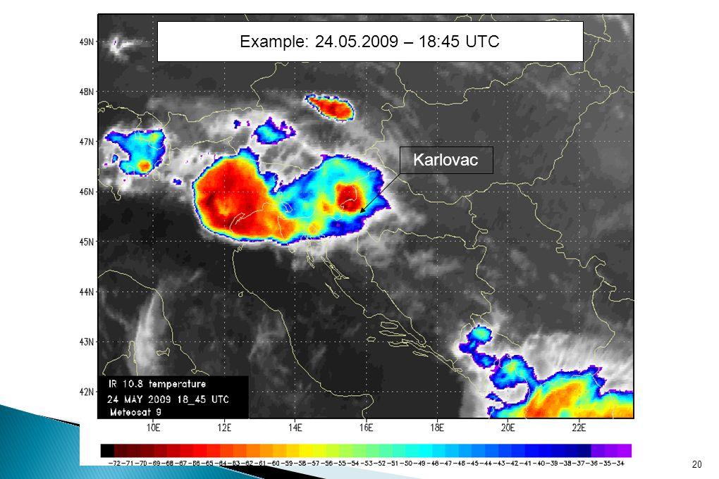 Karlovac 20 Example: 24.05.2009 – 18:45 UTC
