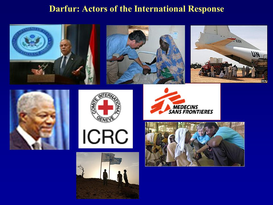 Darfur: Actors of the International Response