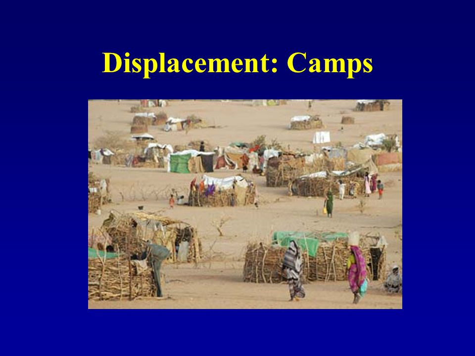 Displacement: Camps