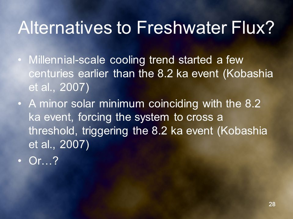 Alternatives to Freshwater Flux.
