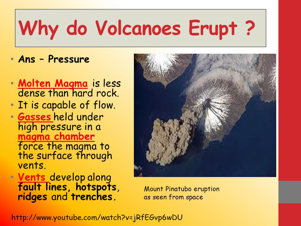 Learning Objectives 1.To understand WHY volcanic activity occurs.