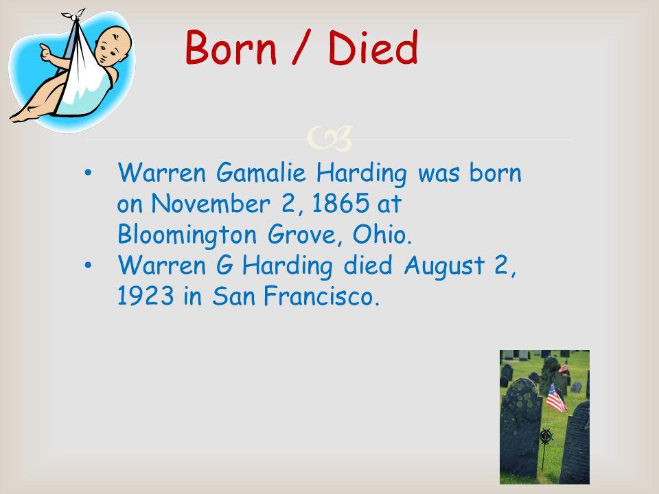 Warren G. Harding By: Gabe Gates 1921-1923