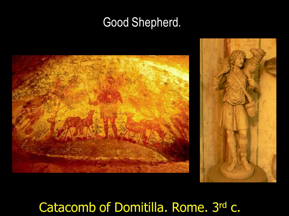 Good Shepherd. Catacomb of Domitilla. Rome. 3 rd c.