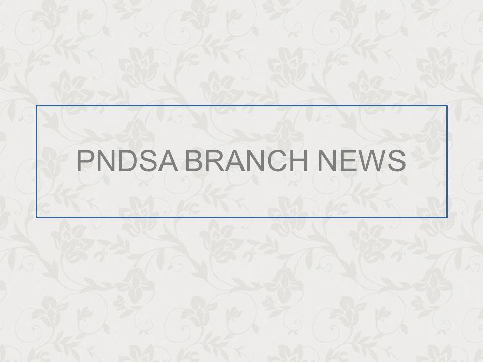 PNDSA STAFF & VOLUNTEERS Gauteng Rica Gibson Gauteng Representative PNDSA BRANCH NEWS