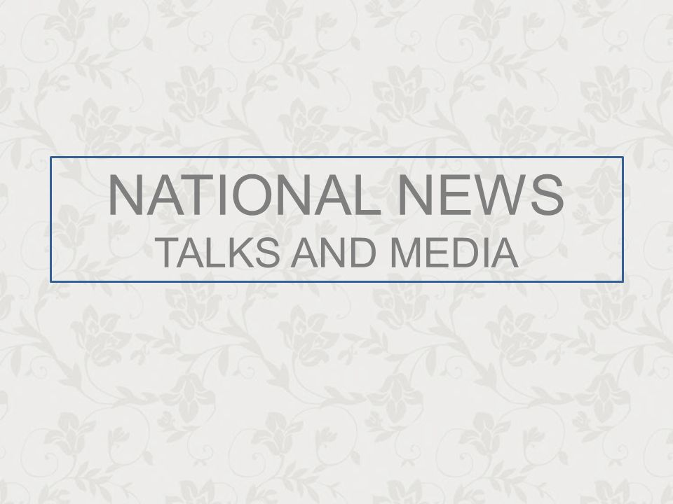 NATIONAL NEWS TALKS AND MEDIA