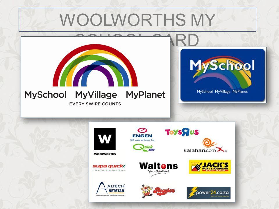 WOOLWORTHS MY SCHOOL CARD