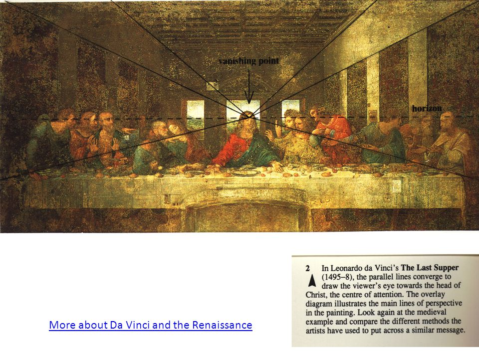More about Da Vinci and the Renaissance