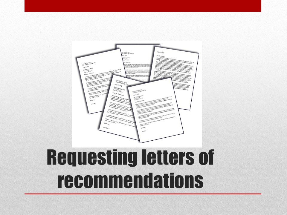 Requesting letters of recommendations