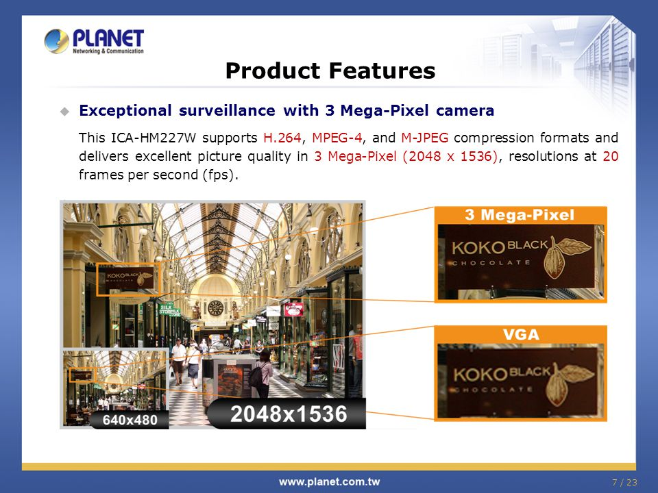 Applications  Typical Application - Home 18 / 23 Alarm Trigger Baby secure Remote Monitor Mobile Device