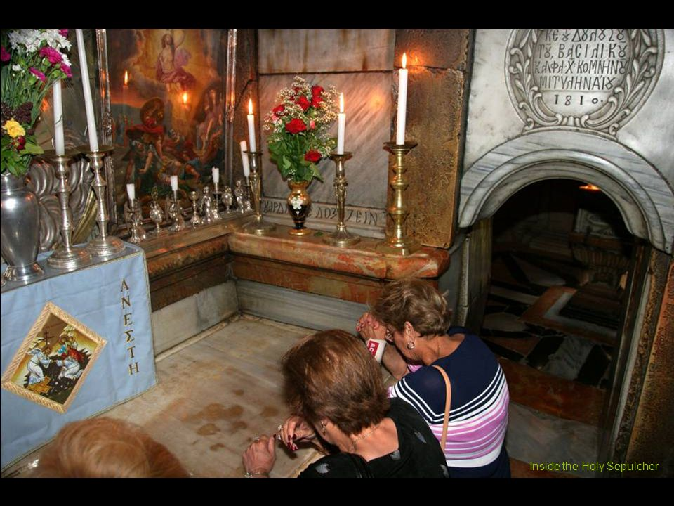 Entering the Holy Sepulcher