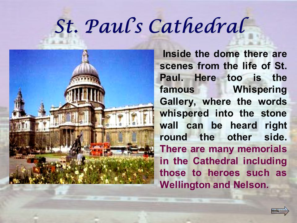 Excellent! This is St. Paul's Cathedral!