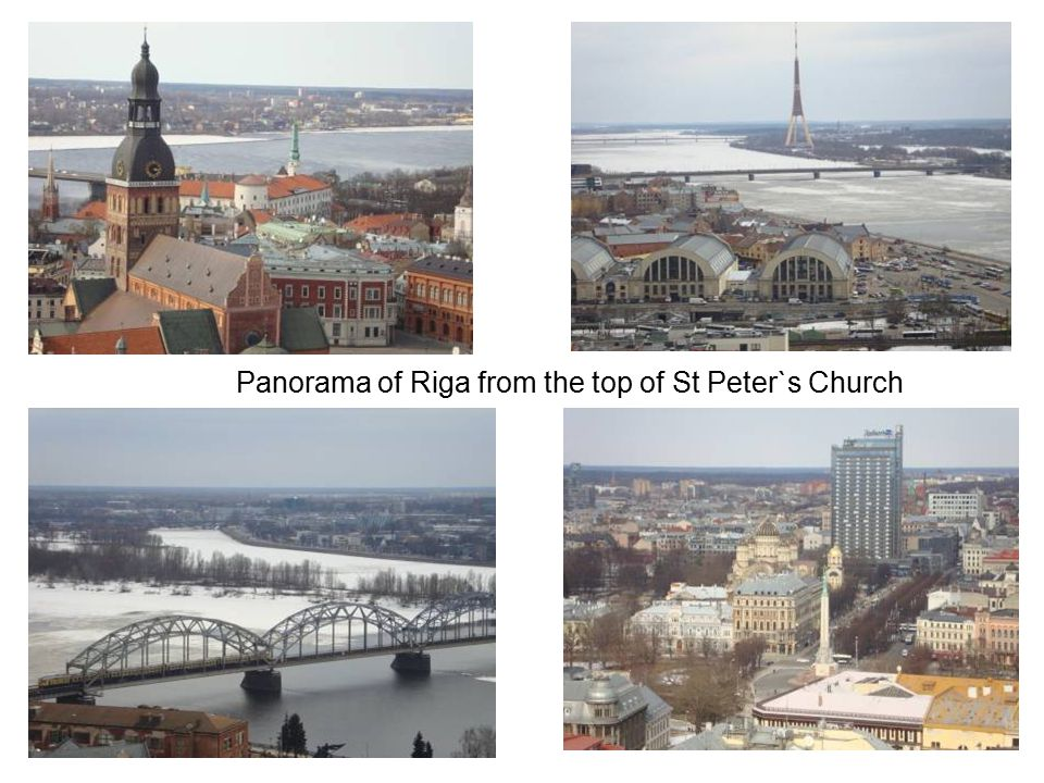 Panorama of Riga from the top of St Peter`s Church