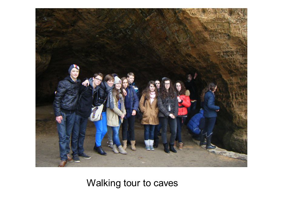 Walking tour to caves