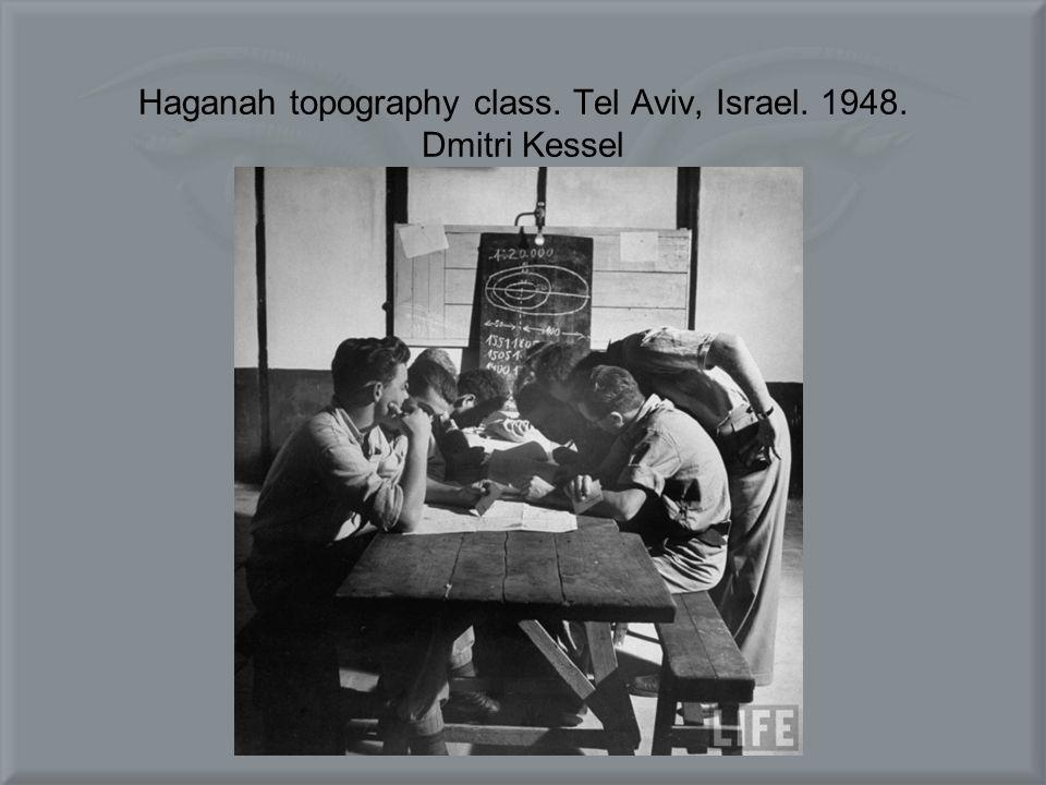 Haganah topography class. Tel Aviv, Israel. 1948. Dmitri Kessel