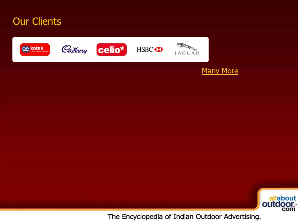 OOH Media Portfolio Network: Kolkata Our Clients Many More