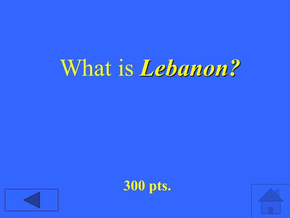Lebanon What is Lebanon 300 pts.