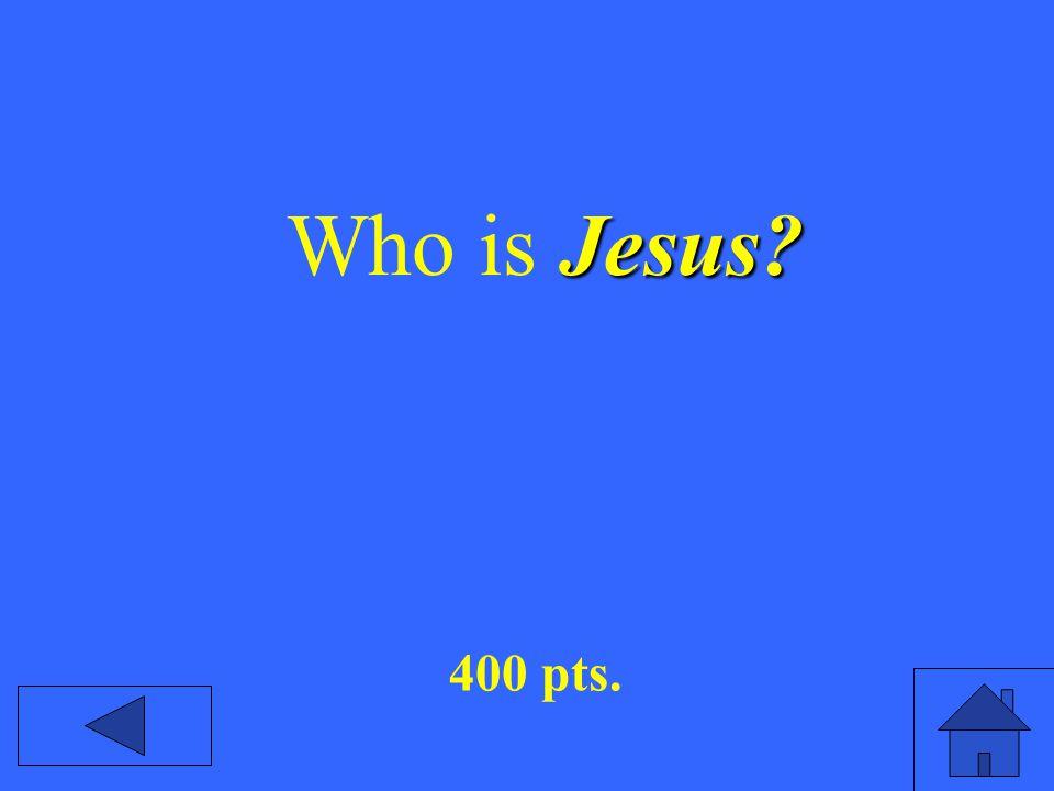 Jesus Who is Jesus 400 pts.