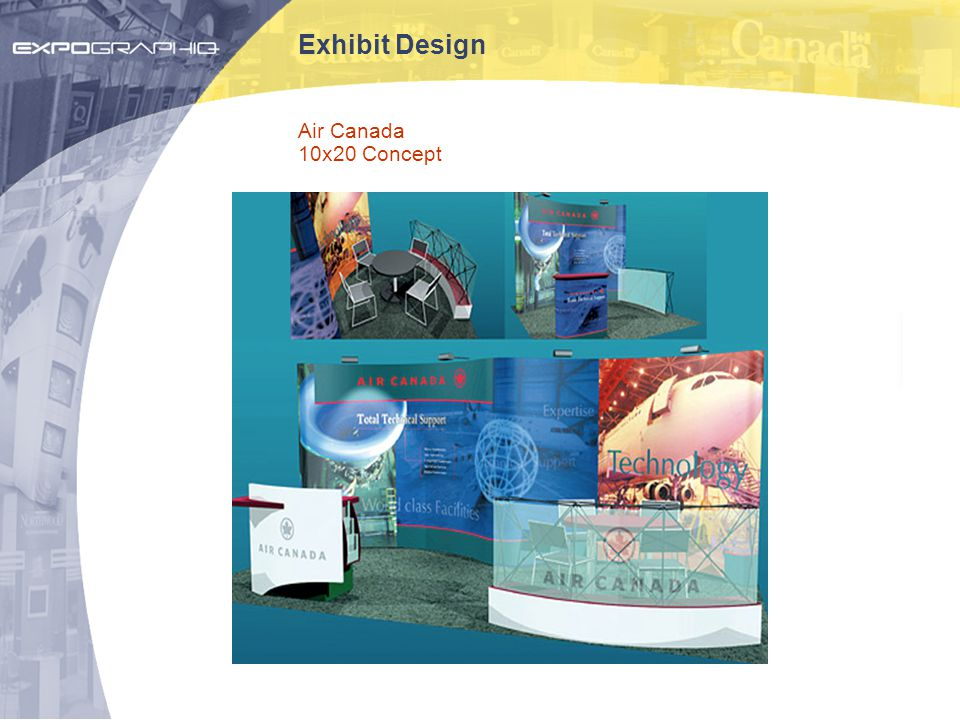 Exhibit Design Air Canada 10x20 Concept