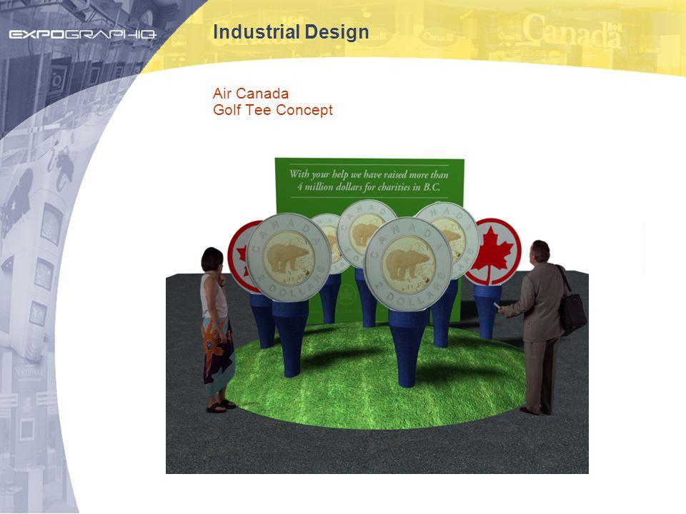 Industrial Design Air Canada Golf Tee Concept