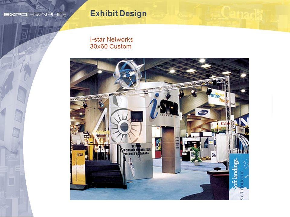 Exhibit Design I-star Networks 30x60 Custom