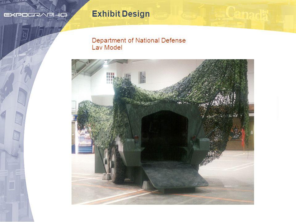 Exhibit Design Department of National Defense Lav Model