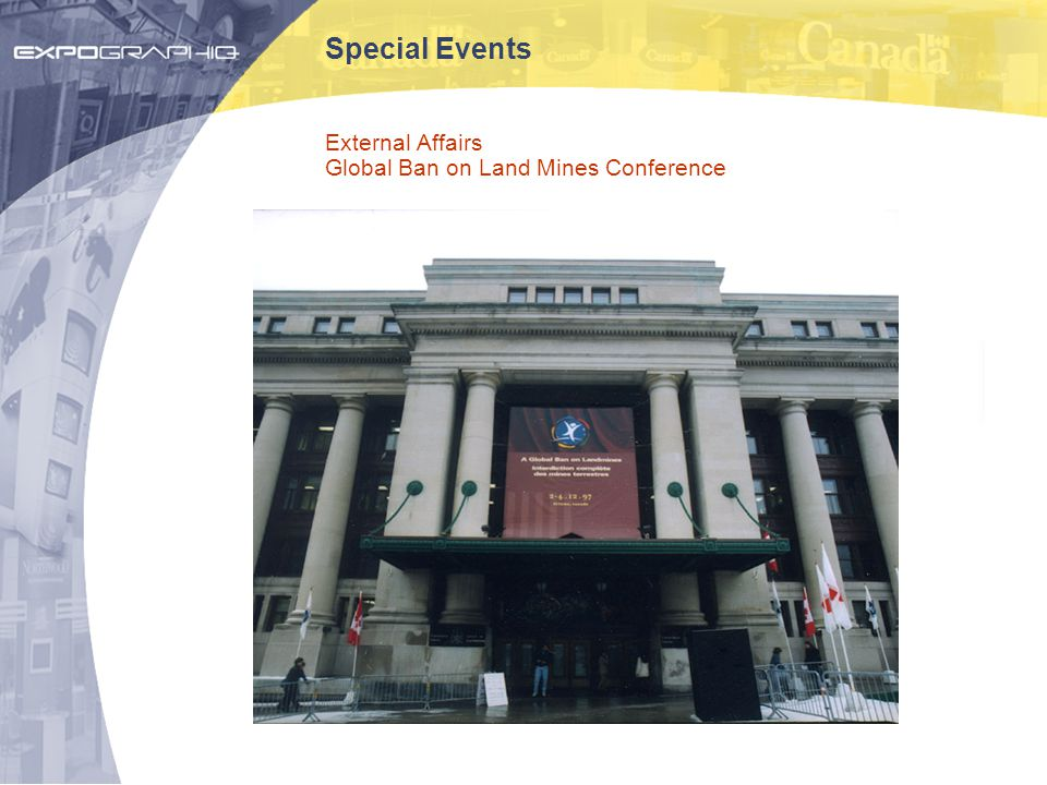 Special Events External Affairs Global Ban on Land Mines Conference