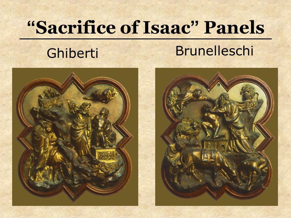 Sacrifice of Isaac Panels Brunelleschi Ghiberti