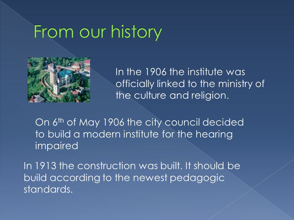 In the 1906 the institute was officially linked to the ministry of the culture and religion.