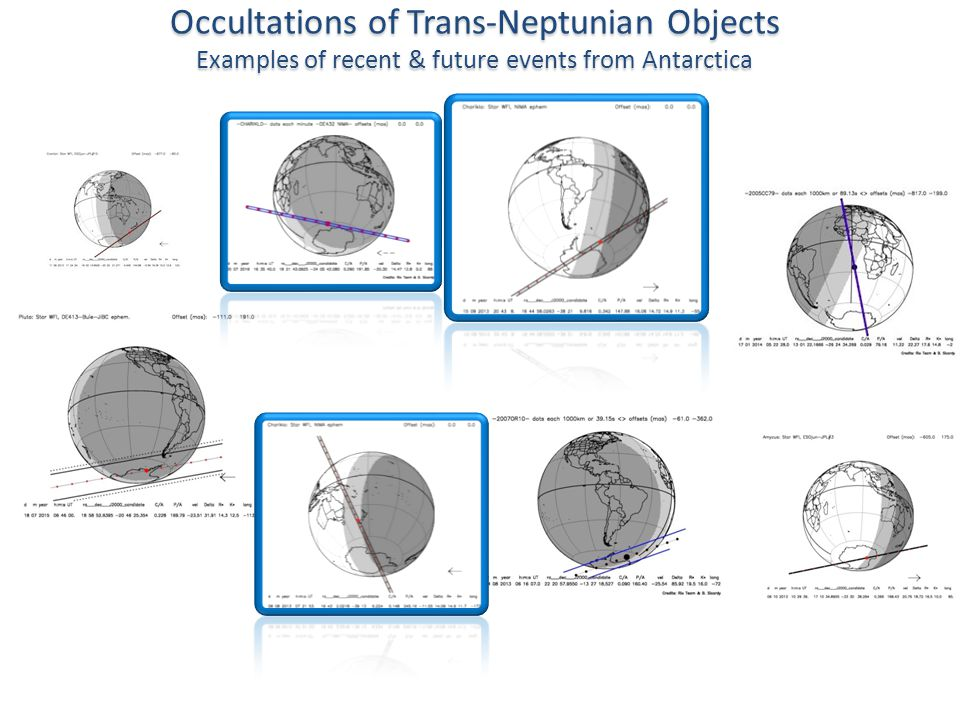 Occultations of Trans-Neptunian Objects Examples of recent & future events from Antarctica